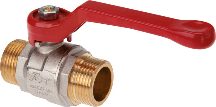 Ball valves with male thread, 2-piece, full throughway, up to 40 bar