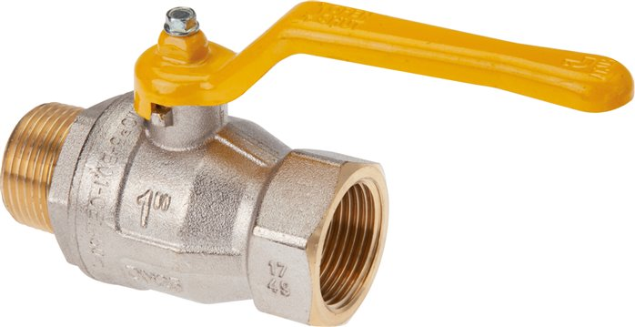 Screw-in ball valves, DVGW tested (PN 5 / MOP 5), EN 331, up to 50 bar
