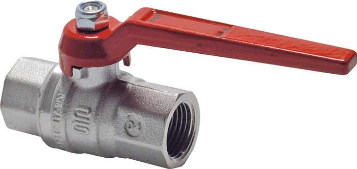 Ball valves, 2-piece, full throughway silicone-free manufacture, up to 80 bar