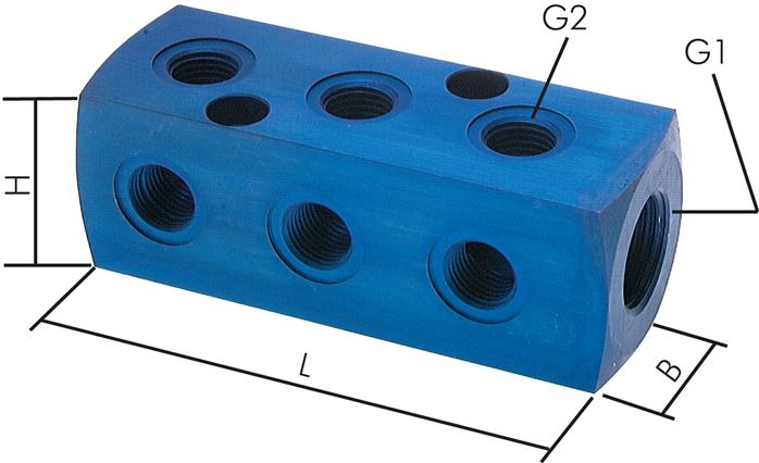 Distributor blocks 9-way, PN 16